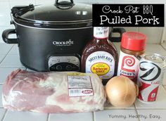 Yummy Healthy Easy: Easy Crock Pot BBQ Pulled Pork