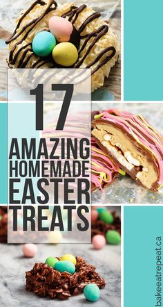 17 cute, easy and amazing homemade Easter treats that you can whip up for the kids this year!