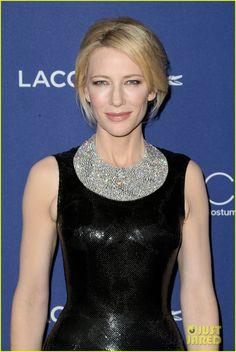 Cate Blanchett Stuns in $1.5 million Tiffany bib necklace at Costume Designers Awards 2016