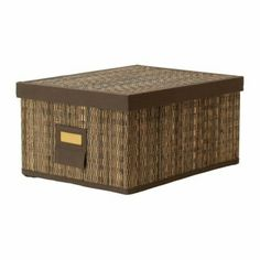 Caja almacenamiento hoja de palma - Ikea - Motorp 28x35x18
