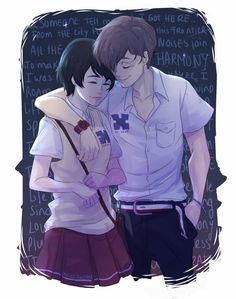 Zankyou no Terror, fan art: Mishima Lisa and Twelve (M: Awesome art btw)