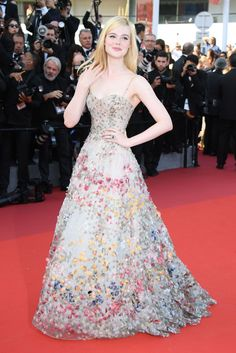 The 70th Annual Cannes Film Festival 2017 - Elle Fanning - In a Monet-Like Christian Dior Haute Couture Gown