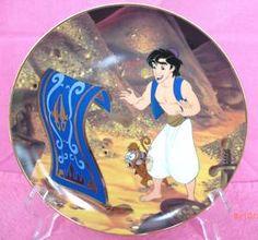 Aladdin Disney Plate Get it here  http://www.blujay.com/item/DISNEY-ALADDIN-COLLECTOR-S-PLATE-TRAVELING-COMPANIONS-MIB-7040402-3347463&keywords=disney+plates