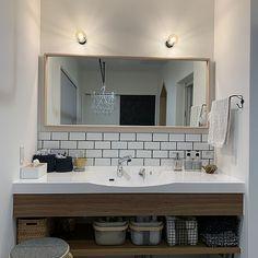 Interior Architecture, Interior Design, Washroom, New Room, Powder Room, Double Vanity, Toilet, Shower, Mirror