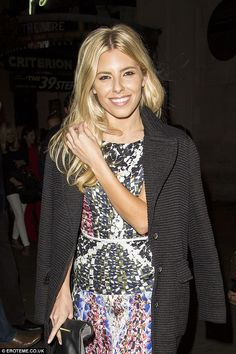 Keeping warm: The Saturdays singer wore her Zara coat over the pretty number