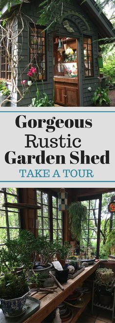 Gorgeous Rustic Garden Shed - Take a Tour https://www.uk-rattanfurniture.com/product/6-x-6-portabase-diy-kit-pressure-treated-timber-shed-summerhouse-base-by-waltons/