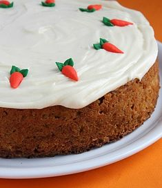 Delicious and easy Carrot Cake Recipe.  Great Easter cake recipe.