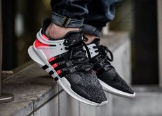 Adidas EQT Support ADV 'Black Turbo Red' (Hot Lava)