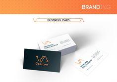 Rediseño de imagen para la marca Gearcom. By: Fortuna Estudio #branding #gear #design #logo #orange #blue #gearcom #fortuna #fortunaestudio #estudio