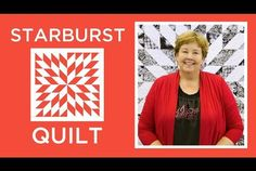 Make an Easy Starburst Quilt with Jenny (Missouri Star Quilt Company - YouTube)