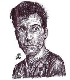 buffon sketch #buffon #juventus #captain #superman #sketch #drawing