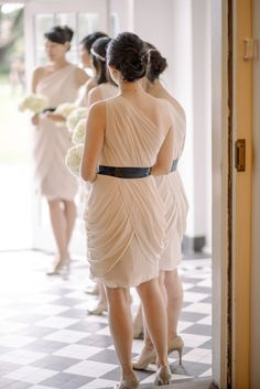Stunning blush bridesmaid dresses from Watters - watters.com/CollectionHome/WtooDresses | Photography: Sean Money + Elizabeth Fay - seanmoney-elizabethfay.com  Read More: http://www.stylemepretty.com/2014/05/29/elegant-lowndes-grove-plantation-wedding/