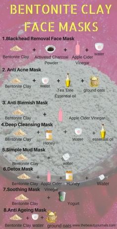 When Bentonite Clay is used internally, it helps with digestion, pH balance, co… .When Bentonite Clay is used internally, it. Homemade Face Masks, Diy Face Mask, Bentonite Clay Face Mask, Deep Cleansing Mask, Acne Mask, Face Mapping, Clay Faces, Beauty Care, Skin Care