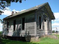Abandoned Iowa school