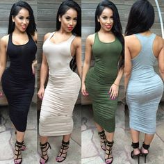 Summer Women Cotton Dresses Long Pleated Top Sexy Bandage Casual Vest Maxi Dress #Generic #Sexy #Clubwear