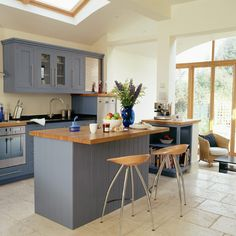 Kitchen extension idea complete with wall of windows