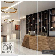 Bancada prismática nesta recepção: tendência nos projetos Camila Klein #arquitetura #projetos #ambientes #decor #interiordesign  #home #architecture