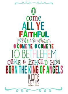 O Come All Ye Faithful printable