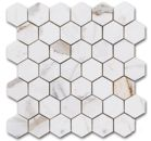 "affordable marble mosaic tile: the bulider depot: Calacatta Gold Italian Marble 2"" Hexagon Mosaic Polished"