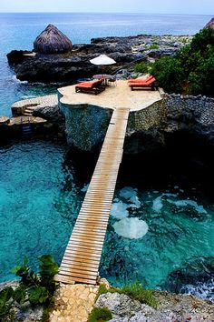 Tensing Pen - Negril - Jamaica What a calm, serene place, blue is such a tranquil color! #WishIWasHere #ad