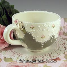 Whimsical Bliss Studios - Large Green Mug