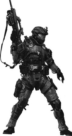 HALO Concept Art Soldier. How to design Characters.