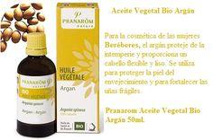 Pranarom aceite de argán Bio 50ml Para la cosmética de las mujeres Beréberes, el argán proteje de la intemperie y proporciona un cabello flexible y lis