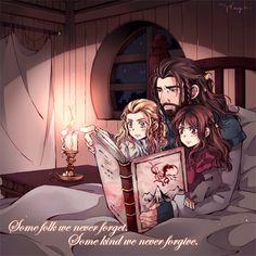 Thorin, Fili, Kili...storytelling