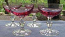 FOUR Tiffin Wistaria Champagne Sherbet Goblets Mint
