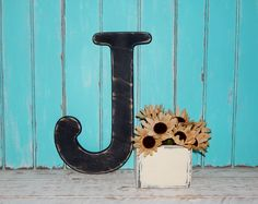 large wood letter j distressed 18 inch wood letters choose letter color