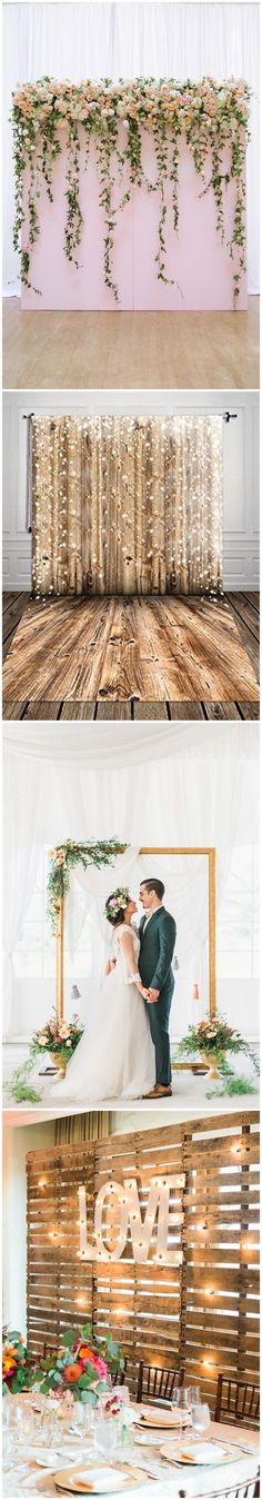Rustic Weddings 30 Unique and Breathtaking Wedding Backdrop Ideas ? More: (Diy Photo Booth) Trendy Wedding, Perfect Wedding, Diy Wedding, Wedding Ceremony, Wedding Venues, Dream Wedding, Wedding Day, Backdrop Wedding, Reception Backdrop