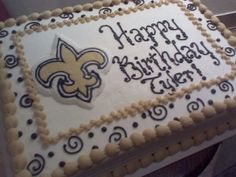 New Orleans Saints - First time trying WASC cake, hope the birthday boy likes it!