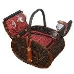Vino Medley Insulated Picnic Basket; 2 Person