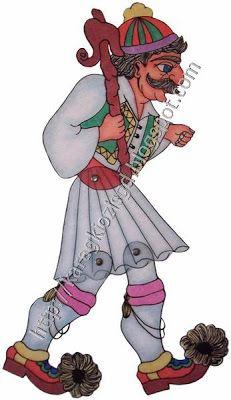 ΜΠΑΡΜΠΑΓΙΩΡΓΟΣ Διάσταση 37,5 εκ Χ  12,5 εκ Shadow Theatre, Blog Page, Kids And Parenting, Horror Movies, Puppets, Paper Dolls, Fun Crafts, Origami, Greece