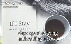 this would be perfect for a long college day and i just need a break and i will drink some cuban coffee and read the fault in our stars or if i stay something sad and romantic