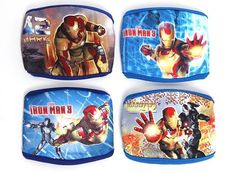 Marvel Iron Kids Man Face Mask Prevent Cold Infection Fashion Child Boys Blue