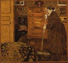 Vuillard, Edouard, Woman Sweeping, 1899-1900, Oil on cardboard