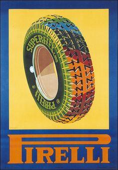 #Pirelli original #vintage #poster manifesto  www.posterimage.it