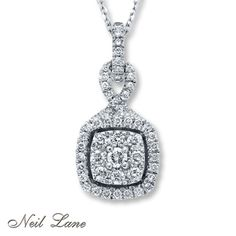 Neil Lane Designs  1/2 ct tw Diamonds 14K White Gold Necklace. something similar to this to wear with my dress <3
