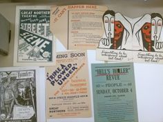 Flyers from Illinois productions, circa 1936-1939, from the Federal Theatre Project Collection C0002. Special Collections and Archives, George Mason University.