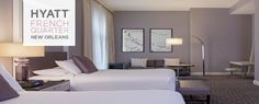 Premium Petite Suite with two queen beds inside the Hyatt French Quarter - New Orleans, LA