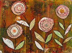 Angela Anderson Art Blog: Mixed Media Flowers - Kids Art Class