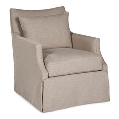 Fairfield Chair Skirted Pillow Swivel Arm Chair & Reviews | Wayfair