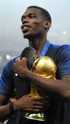 Pogba pictured after winning the World Cup Paul Pogba Manchester United, Manchester United Champions, World Cup 2018, Fifa World Cup, Pogba Wallpapers, Messi And Ronaldo, Football Wallpaper, Billionaire Boys Club, European Football