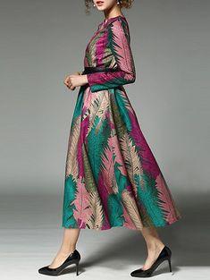 Leaf Jacquard Tea Length Dress #Ad , #SPONSORED, #Jacquard, #Leaf, #Tea, #Dress, #Length Half Sleeve Dresses, Half Sleeves, White Dresses For Women, Casual Dresses, Summer Dresses, Panel Dress, Lingerie Dress, Tea Length Dresses, Flare Dress