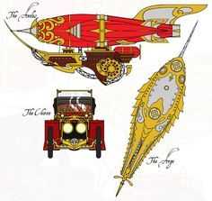 C.O.G. - Vehicles by MaraAum.deviantart.com #airship #aeronef #nautilus