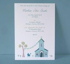 Personalised Christening Invitation