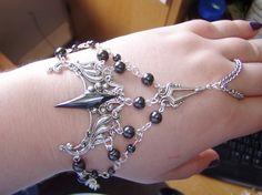 Hematite Slave Bracelet of the Demon Master LARP Costume Celtic Elven Druid Renaissance Vampire via Etsy