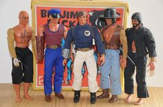 Big Jim and his P. The original A-Team. I had the whole team! They were so the basis for my love of hero teams. Vintage Toys 1970s, 1970s Toys, Retro Toys, Vintage Barbie, 1970s Childhood, Childhood Toys, Childhood Memories, Big Jim Mattel, Gi Joe