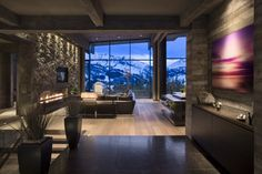 Len Cotsovolos together with LC²Design Services have completed the #interior #design of a private vacation #home located in Big Sky, Montana.